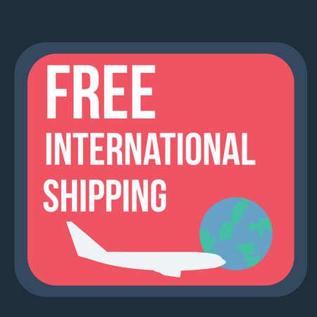 international shipping: free international shipping label