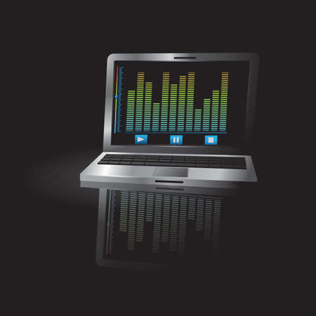 equalizer: equalizer on laptop screen Illustration