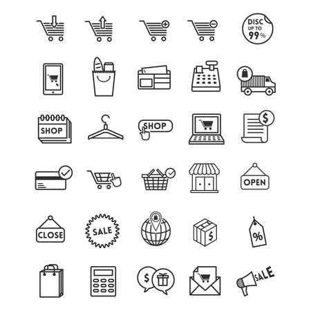 shopping icons: set of shopping icons