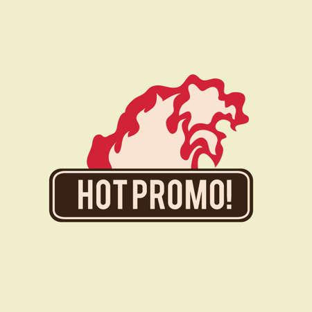 promo: hot promo label design