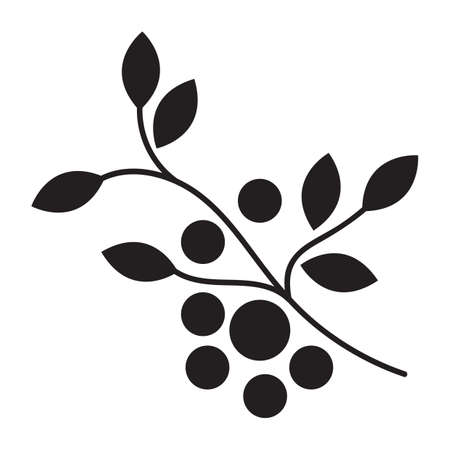arandanos rojos: rama de arándanos Vectores