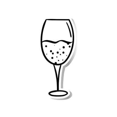 indulgence: a glass of champagne Illustration
