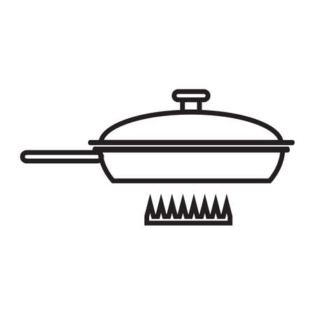 stove: cooking pan on stove Illustration