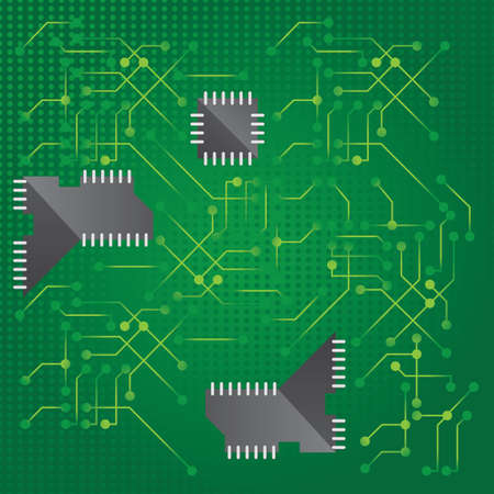the electronic: electronic circuit background Illustration