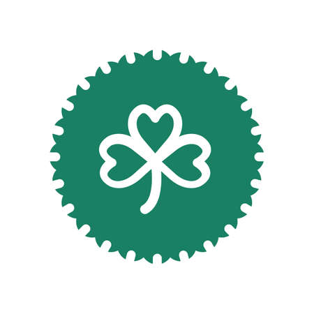 heart shaped leaves: shamrock with emblem