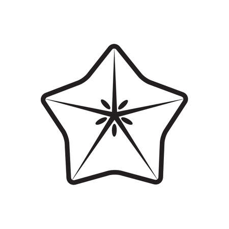 sliced fruit: sliced star fruit Illustration