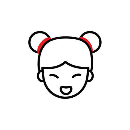 hair tie: girl in traditional chinese hair tie