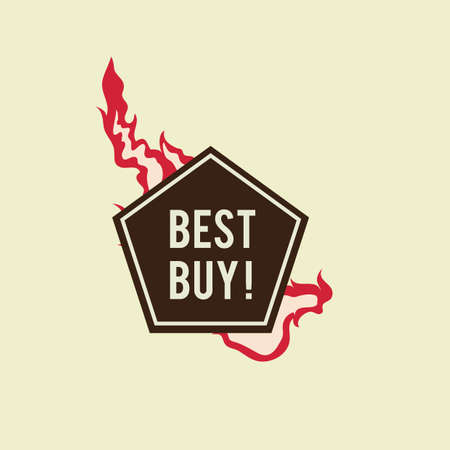the best: best buy label design Illustration