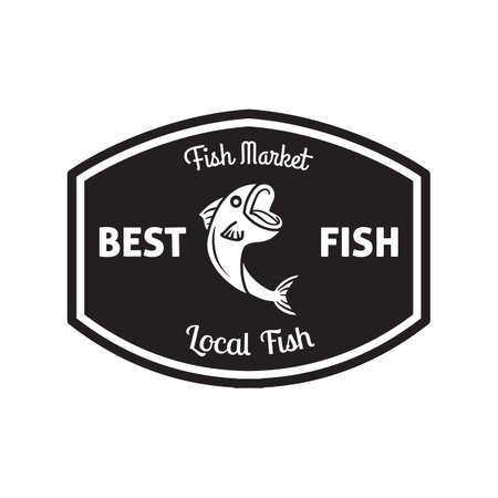 the best: best fish label Illustration