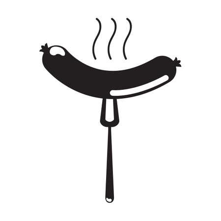 bratwurst: sausage on a fork