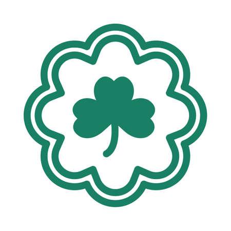 heart shaped leaves: shamrock emblem