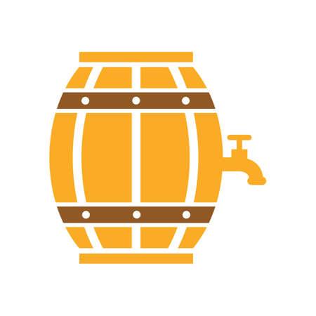 barrel: beer barrel with tap Illustration