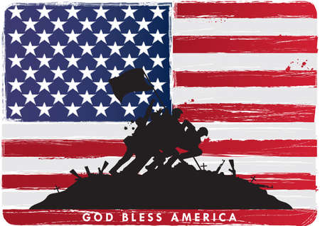 bless: god bless america Illustration