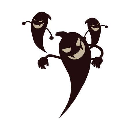 prop: halloween ghost Illustration