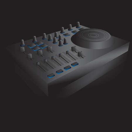 mixers: dj mixer turntable Illustration