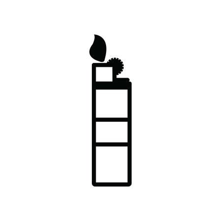 lighter: lighter silhouette Illustration