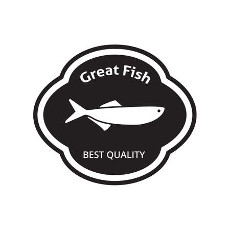 great: great fish label Illustration