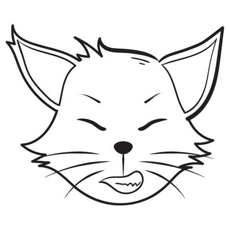 smirking: grinning cat Illustration