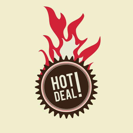hot deal: hot deal label design Illustration