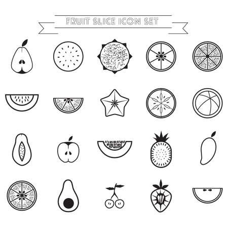 slice: fruit slice icon set
