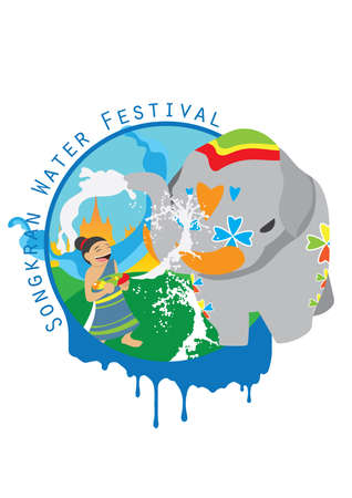 songkran: songkran water festival card