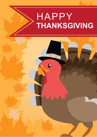 greeting: happy thanksgiving greeting design Illustration