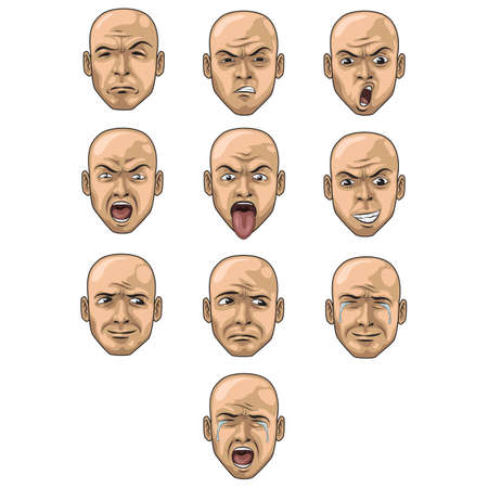 face expressions: set of face expression icons Illustration