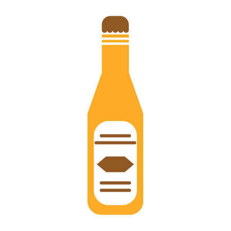 condiment: ketchup bottle Illustration