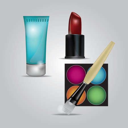 wash face: beauty cosmetics Illustration