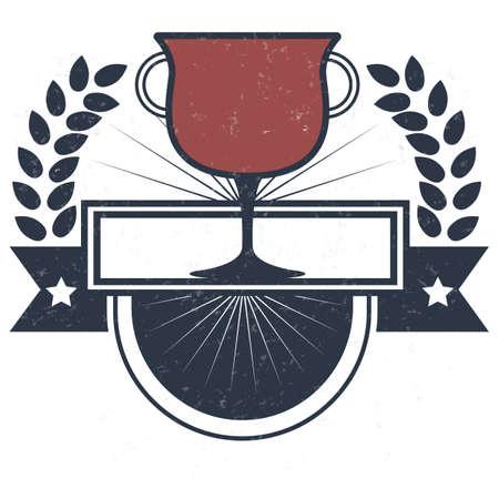 football trophy: american football trophy label