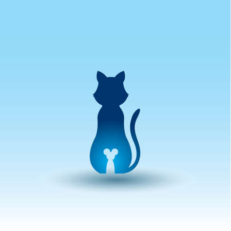 cat and mouse icon Vetores