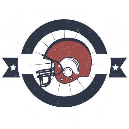 american football helmet: american football helmet label Illustration