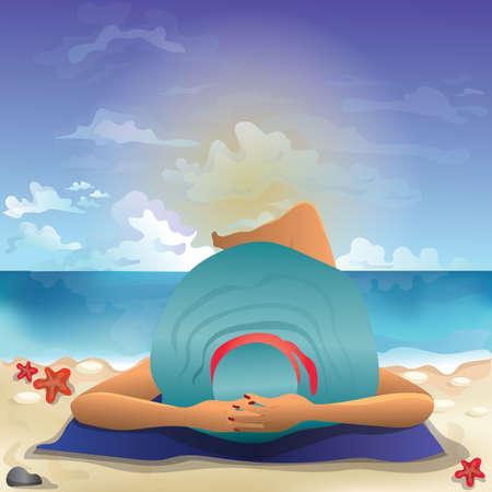 sea side: women relaxing at beach