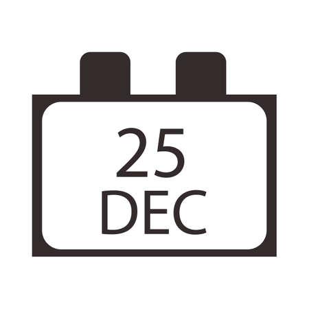 december: vig�simo quinto civil diciembre Vectores