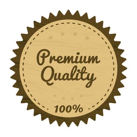 premium quality: premium quality product label design