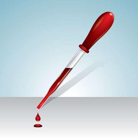 pipeta: gotero pipeta de sangre