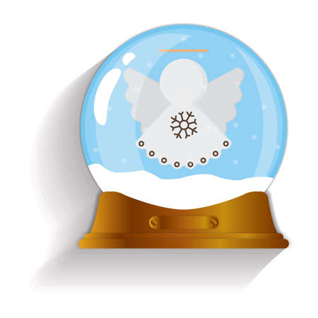 christmas snow globe: christmas angel snow globe