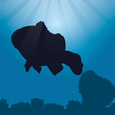 clownfish: clownfish silhouette Illustration