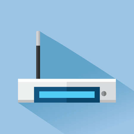 adsl: router with antenna Illustration