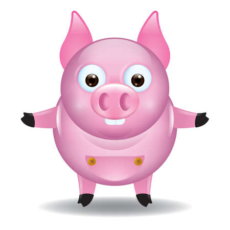 cute cartoon: cute pig cartoon