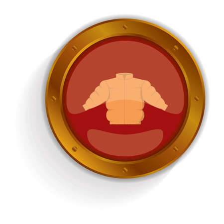 quilted: winter quilted coat button Illustration