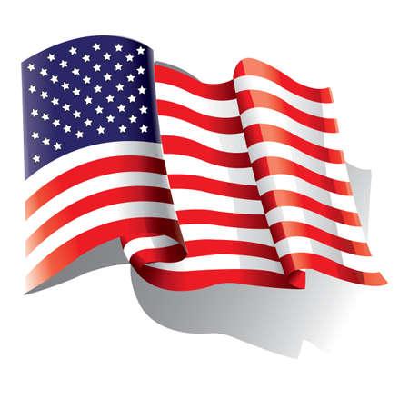 american: american flag Illustration