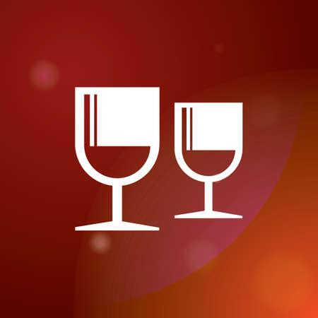 feb: wine glasses Illustration