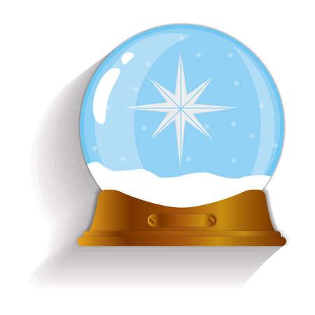 snow globe: star decoration snow globe