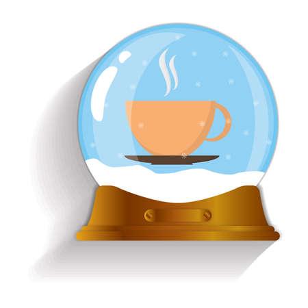 snow globe: hot coffee snow globe