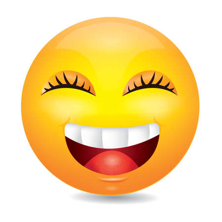 giggle: laughing emoticon