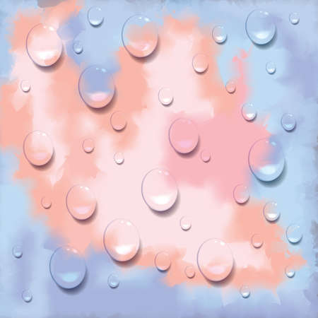 drops of water: textured background with water drops Illustration