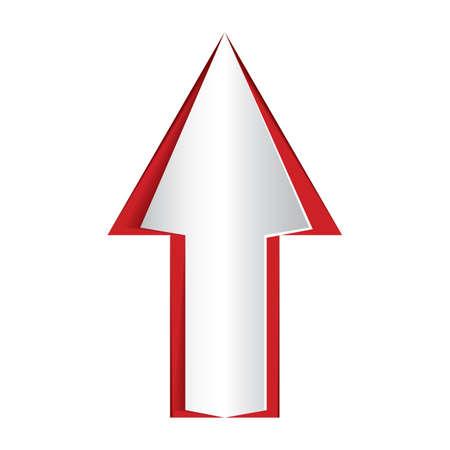 cut outs: paper cut out an upward arrow