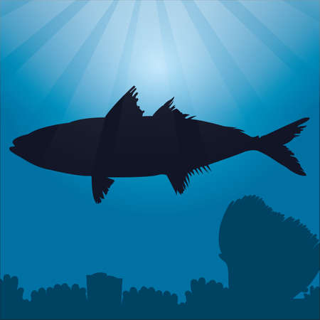 bluefin tuna: bluefin tuna silhouette