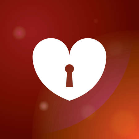 key hole: heart with key hole
